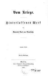 Vom Kriege: Hinterlassenes Werk von Generals Carl von Clausewitz, Band 2