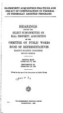 Hearings Before the Subcommittee on Public Buildings and Grounds of the Committee on Public Works  House of Representatives     PDF