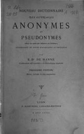 Nouveau dictionnaire des ouvrages anonymes et pseudonymes
