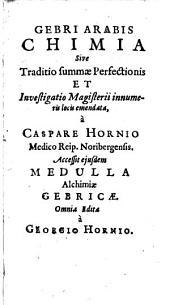 Chimicae: sive traditio summae perfectionis et investigatio magisterii innumeris locis emendata