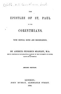 The Epistles of St  Paul to the Corinthians PDF