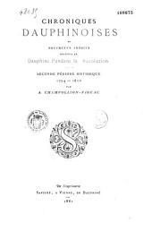 Chroniques dauphinoises et documents inédits relatifs au Dauphiné pendant la Révolution: Volume2