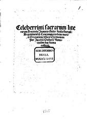 Celeberrimi sacrarum literarum Doctoris Joannis Geiler Keisersbergij ... De oratione d[omi]nica Sermones