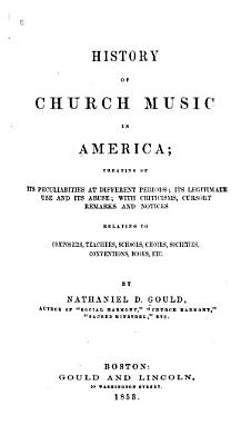 History of Church Music in America PDF
