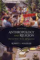 Anthropology and Religion PDF