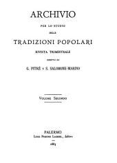 Archivio per lo studio delle tradizioni popolari: Volume 2
