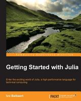 Getting Started with Julia PDF