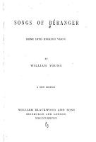 Songs of B  ranger Done Into English Verse PDF