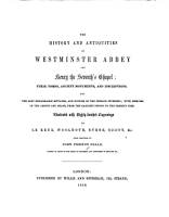 The History and Antiquities of Westminster Abbey and Henry the Seventh s Chapel PDF