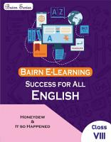 Bairn   CBSE   Success for All   English Literature   Class 8 for 2021 Exam   As Per Reduced Syllabus  PDF