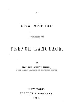 New Method of Learning the French Language