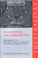Inszenierung von Authentizit  t PDF
