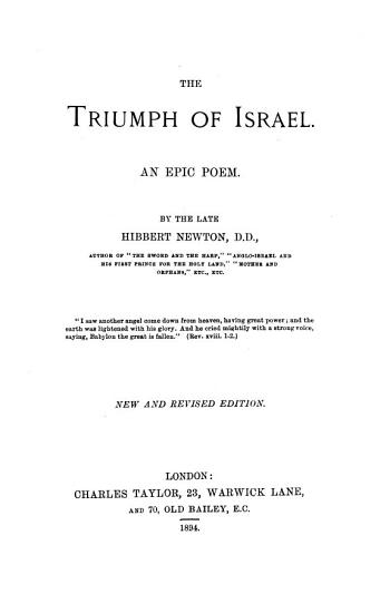 The Triumph of Israel PDF