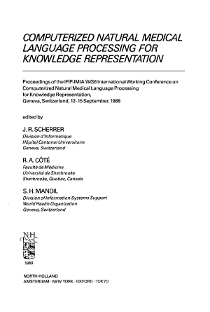 Computerized Natural Medical Language Processing for Knowledge Representation PDF