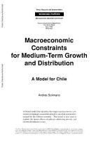 Macroeconomic Constraints for Medium term Growth and Distribution PDF