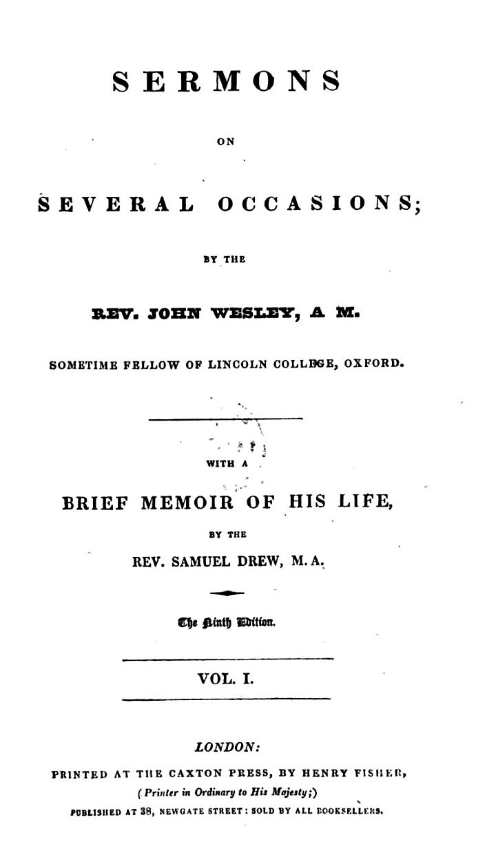 Sermons on several occasions, with a brief memoir by S. Drew