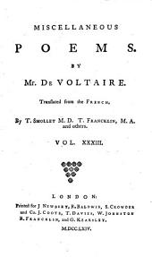 The Works of M. de Voltaire: Volume 33