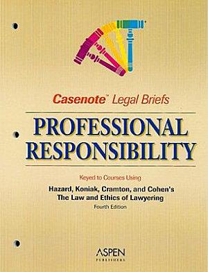 Professional Responsibility  Keyed to Hazard PDF