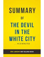 The Devil in the White City  by Erik Larson   Summary   Analysis PDF
