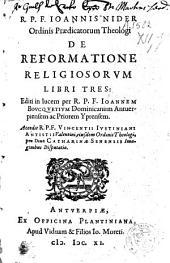 De reformatione religiosorum libri tres