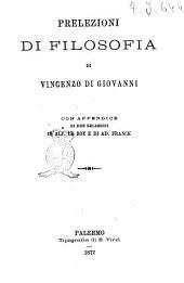 Prelezioni di filosofia di Vincenzo Di Giovanni
