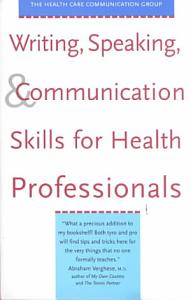 Writing  Speaking    Communication Skills for Health Professionals PDF