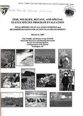Fish  Wildlife  Botany and Special Status Species Program Evaluation PDF