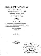 Relazione generale degli scavi e scoperte fatte lungo la via latina: redatta dalle stesso intraprendente e scopritore Lorenzo Fortunati dall'ottobre 1857 all'ottobre 1858 ...