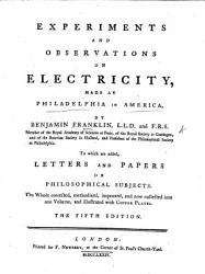Experiments And Observations On Electricity Book PDF