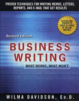 Business Writing PDF