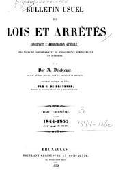 Bulletin usuel des lois et arrêtés: concernant l'administration générale ...