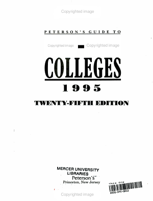 Peterson s Guide to Two Year Colleges  1995