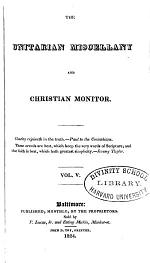 The Unitarian Miscellany and Christian Monitor