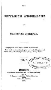 The Unitarian Miscellany and Christian Monitor: Volume 5