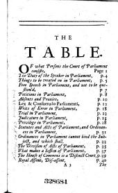 The Original Institution, Power and Jurisdiction of Parliaments: In Two Parts ..., Volume 1