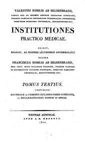 Institutiones practico medicae: rudimenta nosologiae et therapiae specialis complectentes, Volume 3