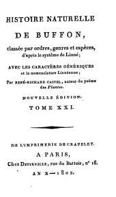 Histoire Naturelle: classée par ordres, genres et espèces, d'après le système de Linnée : avec les Caractères génériques et la nomenclature Linnéenne. Oiseaux ; T. 11, Volume21