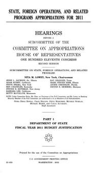State  Foreign Operations  and Related Programs Appropriations for 2011  2010  Part 1  111 2 Hearings PDF