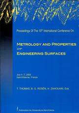 Proceedings of the 10th International Conference on Metrology and Properties of Engineering Surfaces