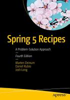 Spring 5 Recipes PDF