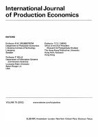 International Journal of Production Economics PDF