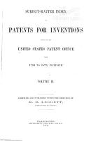 Subject matter Index of Patents for Inventions Issued by the United States Patent Office from 1790 to 1873 PDF