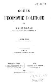 Cours d'économie politique: Volume2