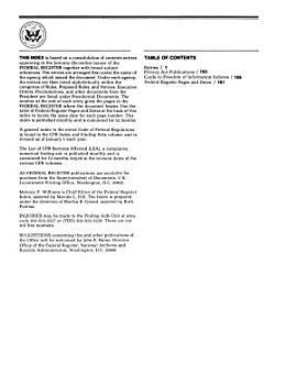 Federal Register      Annual Index PDF
