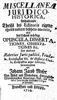 Miscellanea Iuridico Historica0 PDF