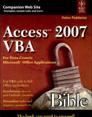 ACCESS 2007 VBA BIBLE For Data Centric MICROSOFT OFFICE APPLICATIONS PDF