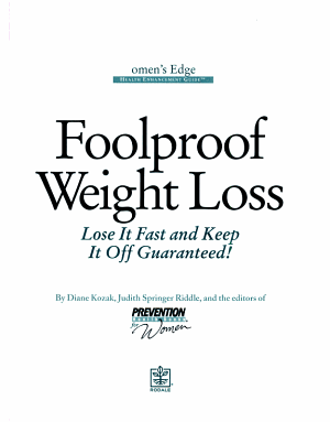 Foolproof Weight Loss PDF