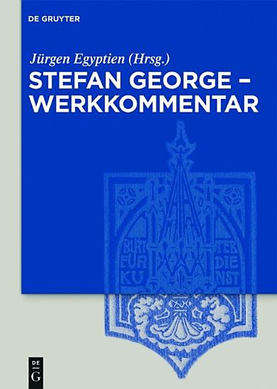 Stefan George     Werkkommentar PDF
