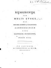 Rijmkronijk van Melis Stoke: met historie- oudheid- en taalkundige aanmerkingen, Volume 3