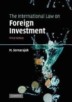 The International Law on Foreign Investment PDF
